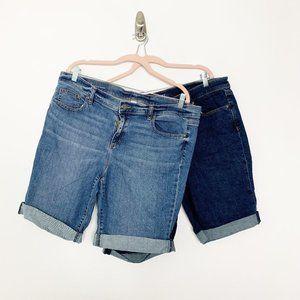Bundle of 2 Bicycle Cuffed Denim Shorts 16 #4384